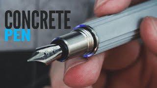 CONCRETE Fountain Pen || Unbox, Review, Drawing