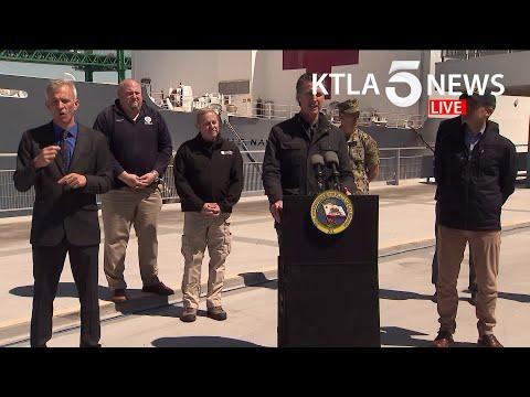 Coronavirus: L.A. Mayor Garcetti, CA Gov. Newsom Provide Update On Mercy Hospital Ship, COVID-19