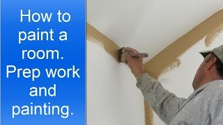 How to paint a room professionally.