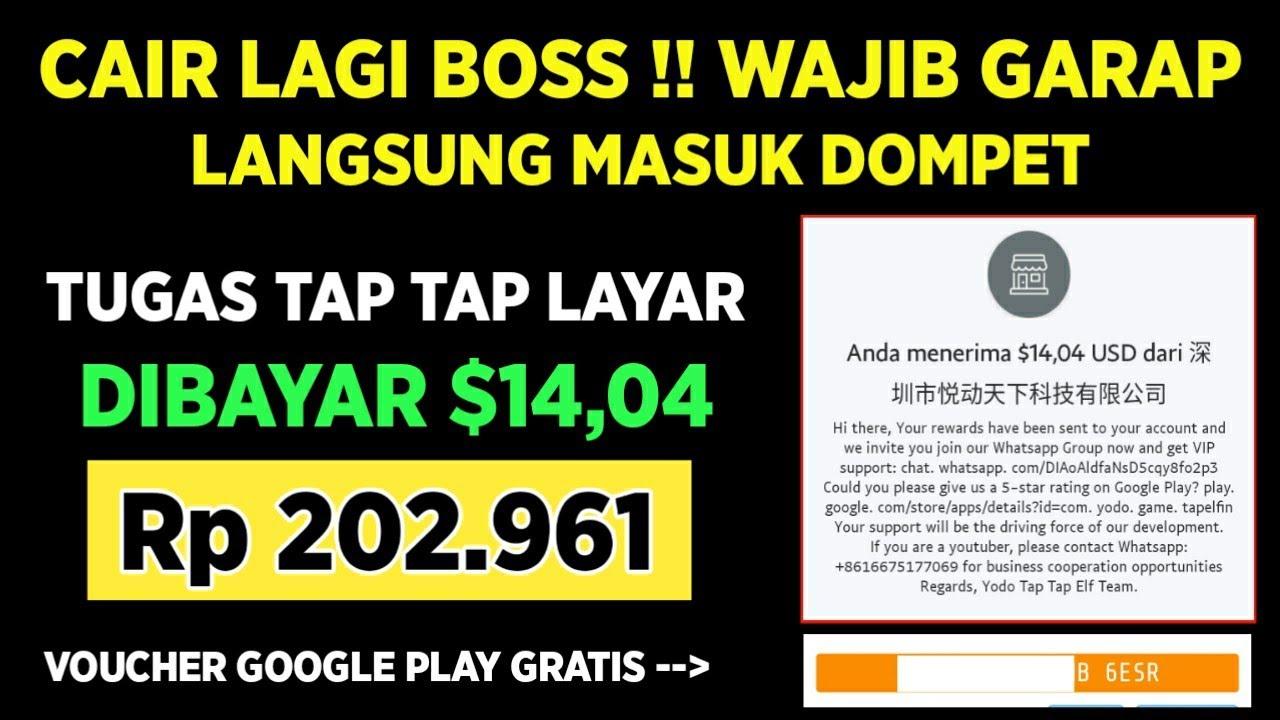 CAIR LAGI BOSS !! DIBAYAR 202.961 LANGSUNG MASUK DOMPET : WAJIB GARAP SELAGI MEMBAYAR