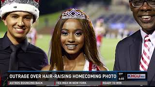 Outrage over hair-raising homecoming photo