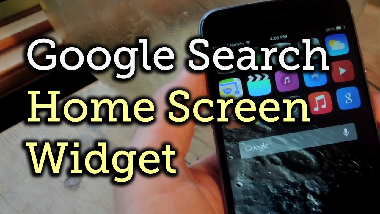 Add A Google Search Bar Widget To Your IPhone's Home