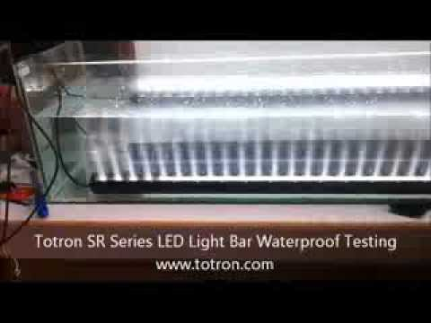 Totron SR Series LED Light Bar Waterproof Testing  YouTube
