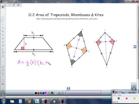 Acc. Geometry 11.1-11.2 Area of Parallelogram, Triangle, Trapezoid, Rhombus, Kite