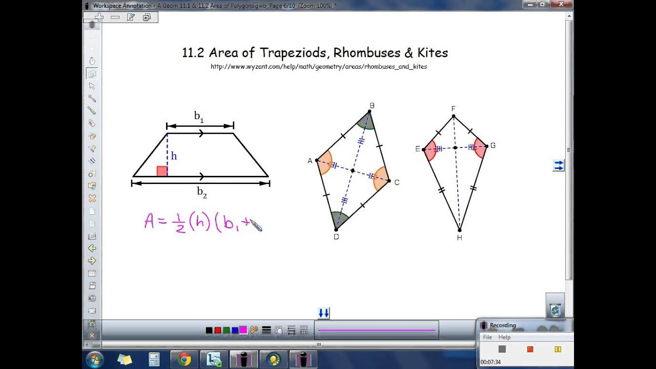 Acc geometry 111 112 area of parallelogram triangle trapezoid acc geometry 111 112 area of parallelogram triangle trapezoid rhombus kite youtube ccuart Images