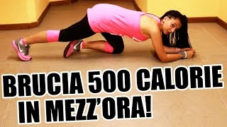 Allenamento completo per dimagrire e tonificare i muscoli e bruciare 500 calorie in 30 minuti!