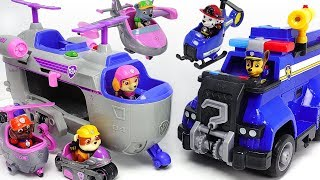 Paw Patrol Ultimate Rescue Skye Helicopter, Police Cruiser! Defeat PJ Masks villains! #DuDuPopTOY