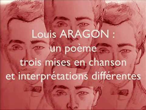 ARAGON 1 poème, 3 chansons