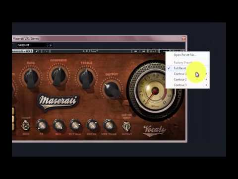 Procesadores Vocales: Waves Tony Maserati
