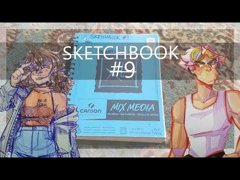 SKETCHBOOK TOUR (where I'm attacked by a cat, ft  Avery Elliott)