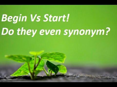 begin start difference