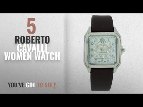 Top 10 Roberto Cavalli Women Watch [2018]: Roberto Cavalli R7251192515 Women's Silver Pave Watch