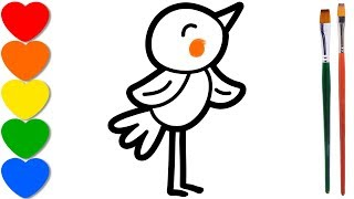 Little Bird coloring pages for kids, drawing for t...
