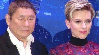 Ghost in the Shell Japan Premier/ Scarlett Johansson, Takeshi Kitan...