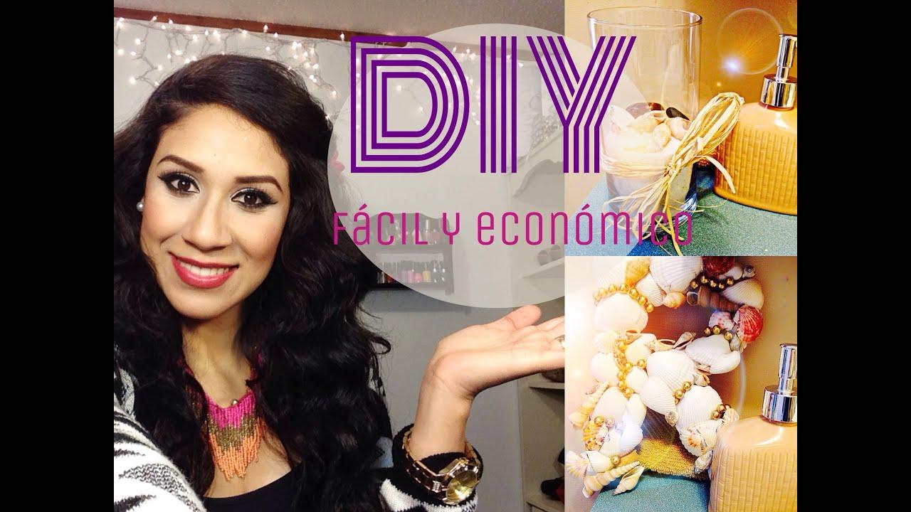 Diy 3 ideas para decorar tu ba o s per econ mico youtube - Como decorar el bano ...