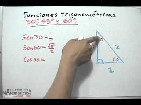 Valores para las funciones trigonom tricas de 30 45 y 60 for Cocinar a 60 grados