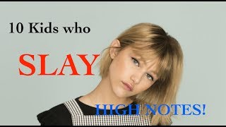 10 KIDS who S L A Y High Notes! thumbnail
