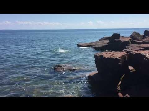 Swimming on Madeline Island, Bayfield, WI