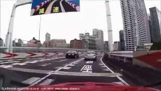 首都高で前の車のタイヤが突然バースト! thumbnail
