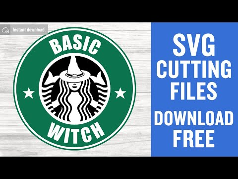 Basic Witch Svg Free Halloween Svg Starbucks Svg Instant Download Silhouette Cameo Shirt Design Witch Halloween Svg Png Dxf 0383 Freesvgplanet