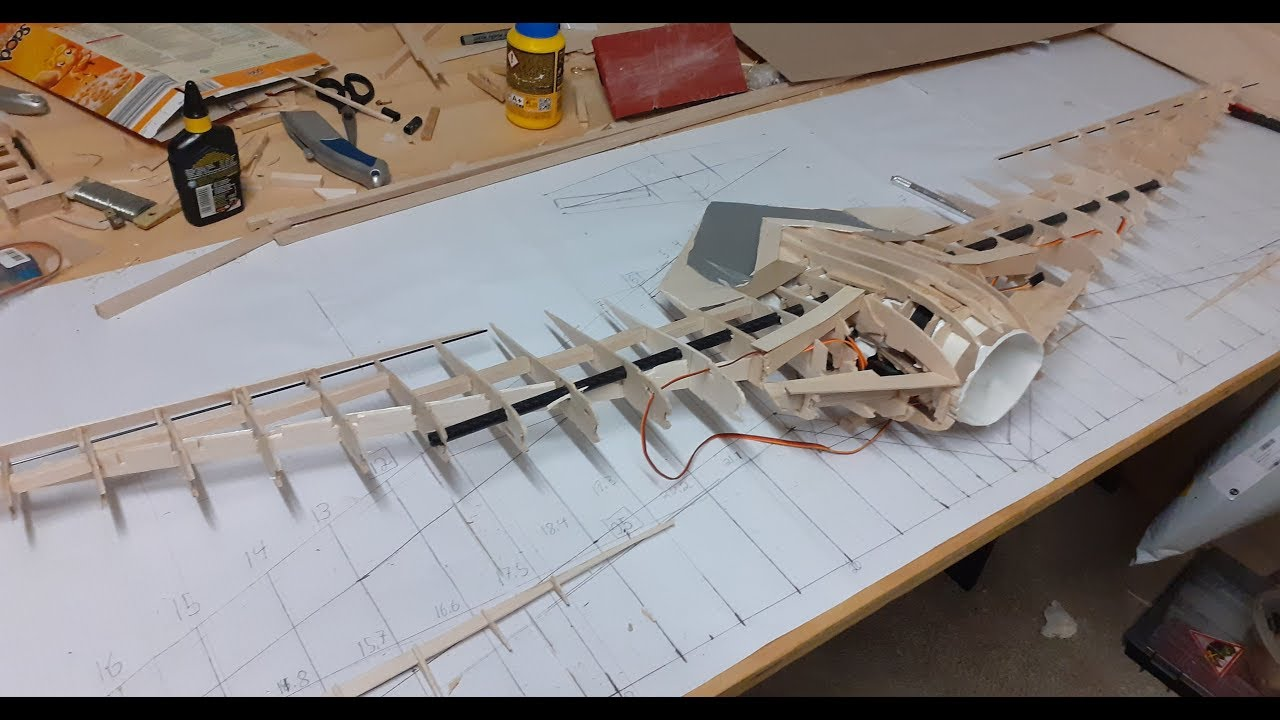 Balsa wood flying wing build Part 3: The wings