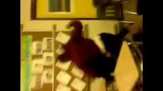 School fight, fuck boy gets used as a mop.