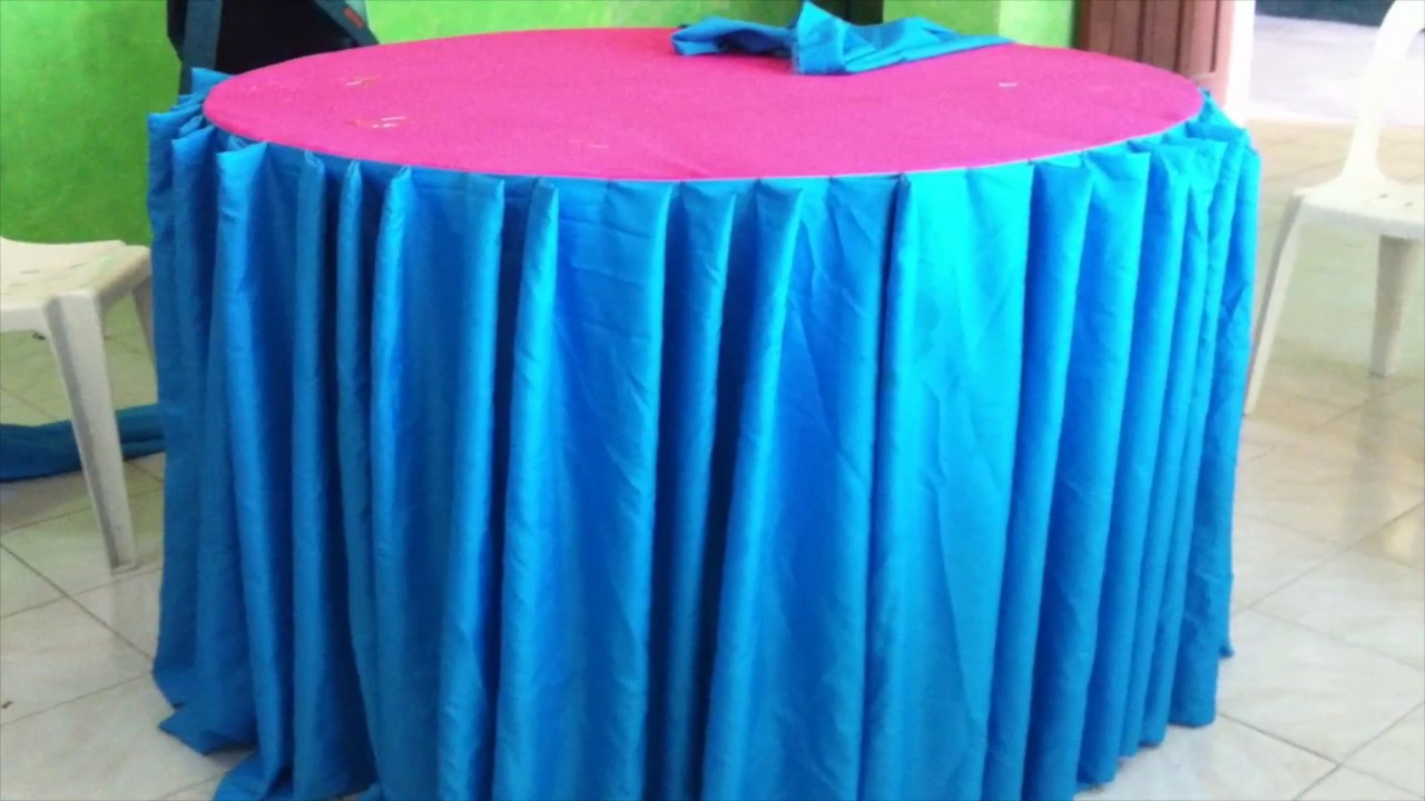 Single Pleats Table Skirting Tutorial You