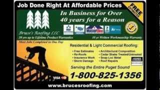 Roof Repair in Redmond Wa - Redmond Roof Repairs - Free Estimates on Roof Repairs - Bruces Roofing
