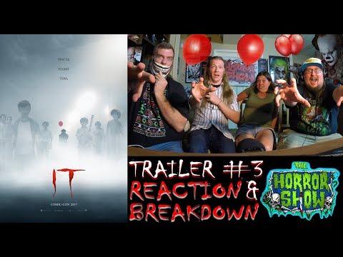 """""""IT"""" 2017 Stephen King Horror Movie Trailer #3 (Official Trailer #1) Reaction & Breakdown"""