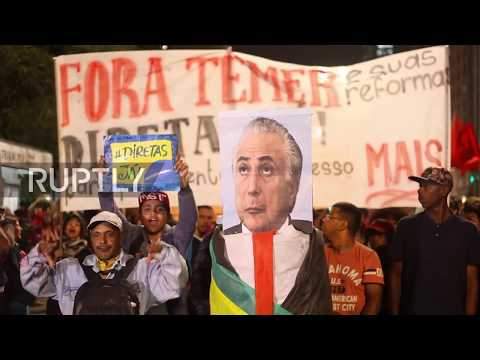 Brazil: 'Temer out' - Thousands demand Temer resign in Sao Paulo