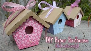 Tutorial: Paper Birdhouses | Mother's Day Crafts 🌸