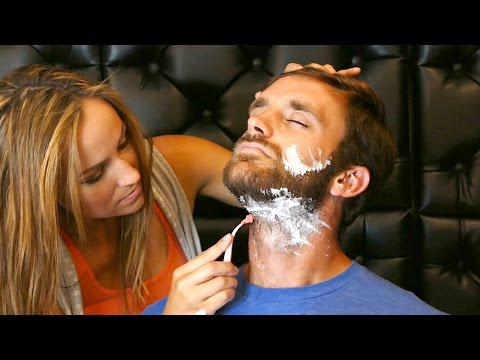 Real ASMR Men's Shave & Beard Trimming Barber Sounds – Soft Spoken Binaural 3Dio