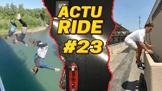 ACTU RIDE #23 : Grosse chute en parkour, surfer à Lyon, Kauli Vaast, skate, BMX et VTT !
