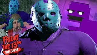 PLAYING AS PURPLE GUY JASON!    Friday The 13th The Game  (RETRO JASON UPDATE)