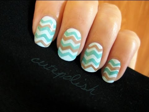 Easy chevron nails no stripers needed youtube easy chevron nails no stripers needed solutioingenieria Gallery