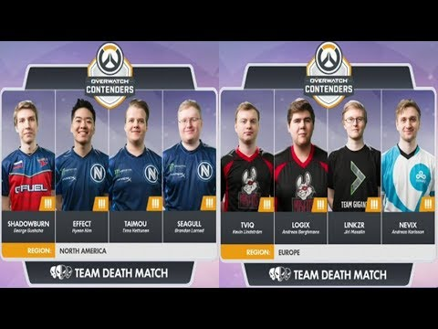 North America vs Europe | Team Deathmatch Showmatch (OW Contenders Season One)