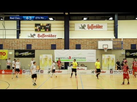 Floorball-Bundesliga 2017/18: Red Devils Wernigerode - ETV Piranhhas Hamburg (30.09.2017)