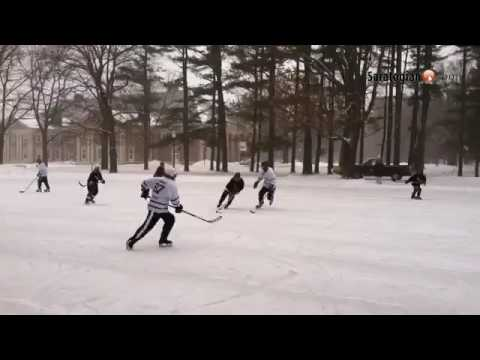 Action during the Saratoga Frozen Springs Classic hockey tournament
