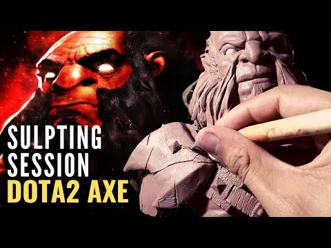 Sculpting DOTA2 AXE in Monster Clay | Monster Clay Sculpting For Beginners | Sculpting Timelapse