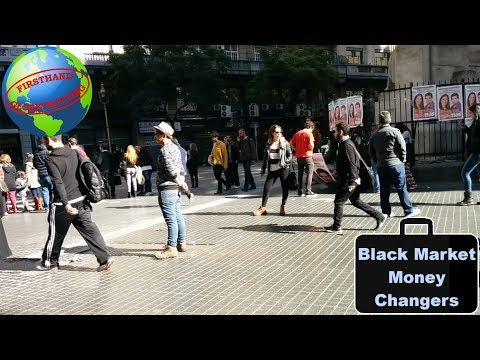 Black market currency exchanges in Buenos Aires - Money changers using Argentina's famous Blue Rate
