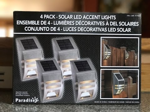 Paradise 4 Pack  Solar LED Accent Lights Fence Lighting
