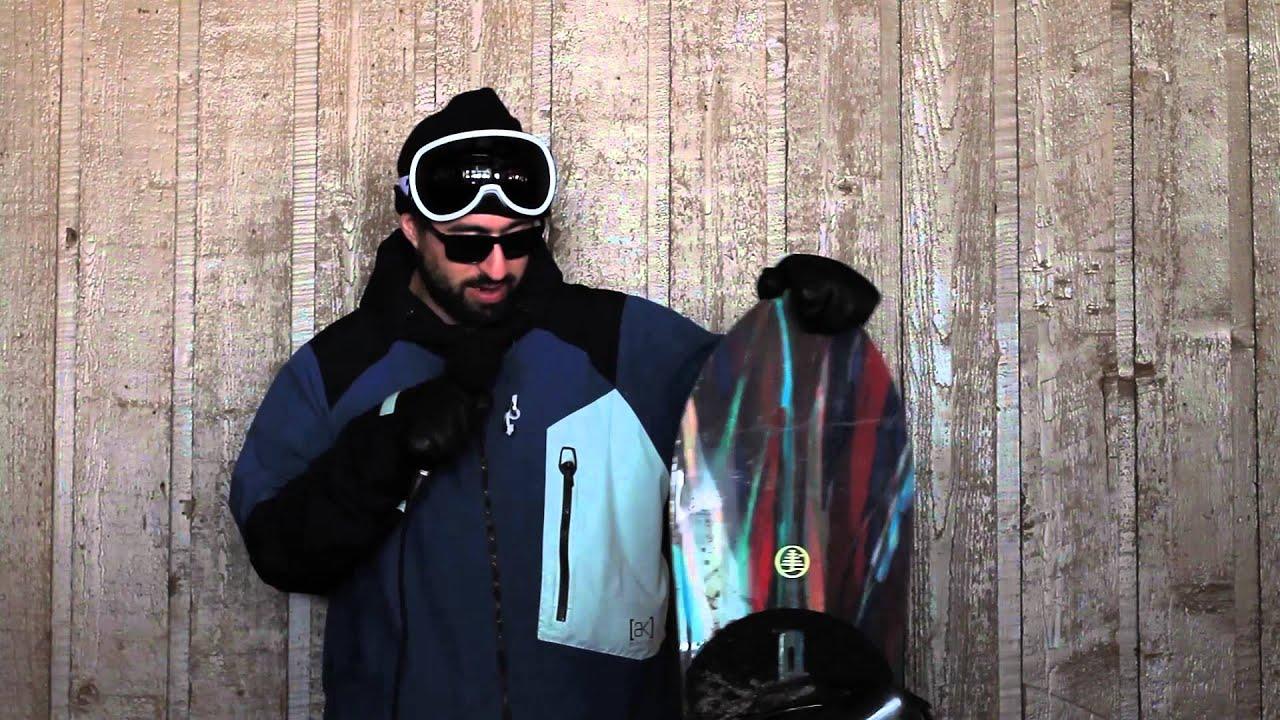 burton 2016 family tree skipjack surf reverse camber snowboard