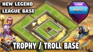 New TH11 Trophy Base / Troll Base With Proof 2018 | TH11 New Legend ...