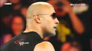 WWE Raw 2/14/11: The Rock Returns!!! Part 1/2 (HD)