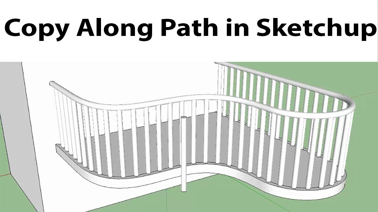 Array Along Path in Sketchup