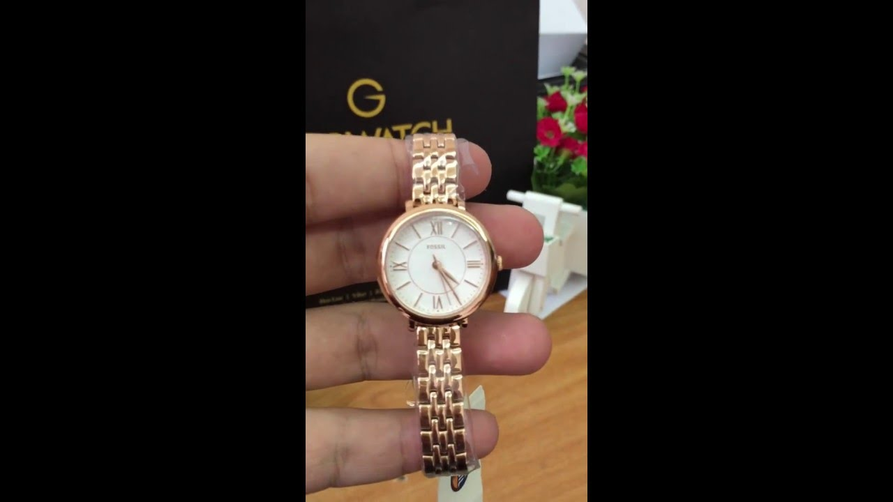 57f76d9185d2 FOSSIL Jacqueline Silver Dial Rose Gold-tone Stainless Steel Ladies Watch  ES3799 - YouTube