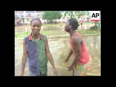 Malnourished childern received food aid