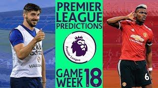 EPL Week18 Premier League Football Score and Results Predictions 2018/19 Season