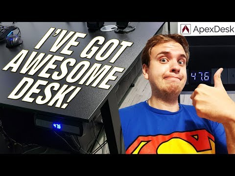 """THIS IS THE BEST DESK EVER!!! 😍 ApexDesk Flex Pro Series 66"""" Review."""