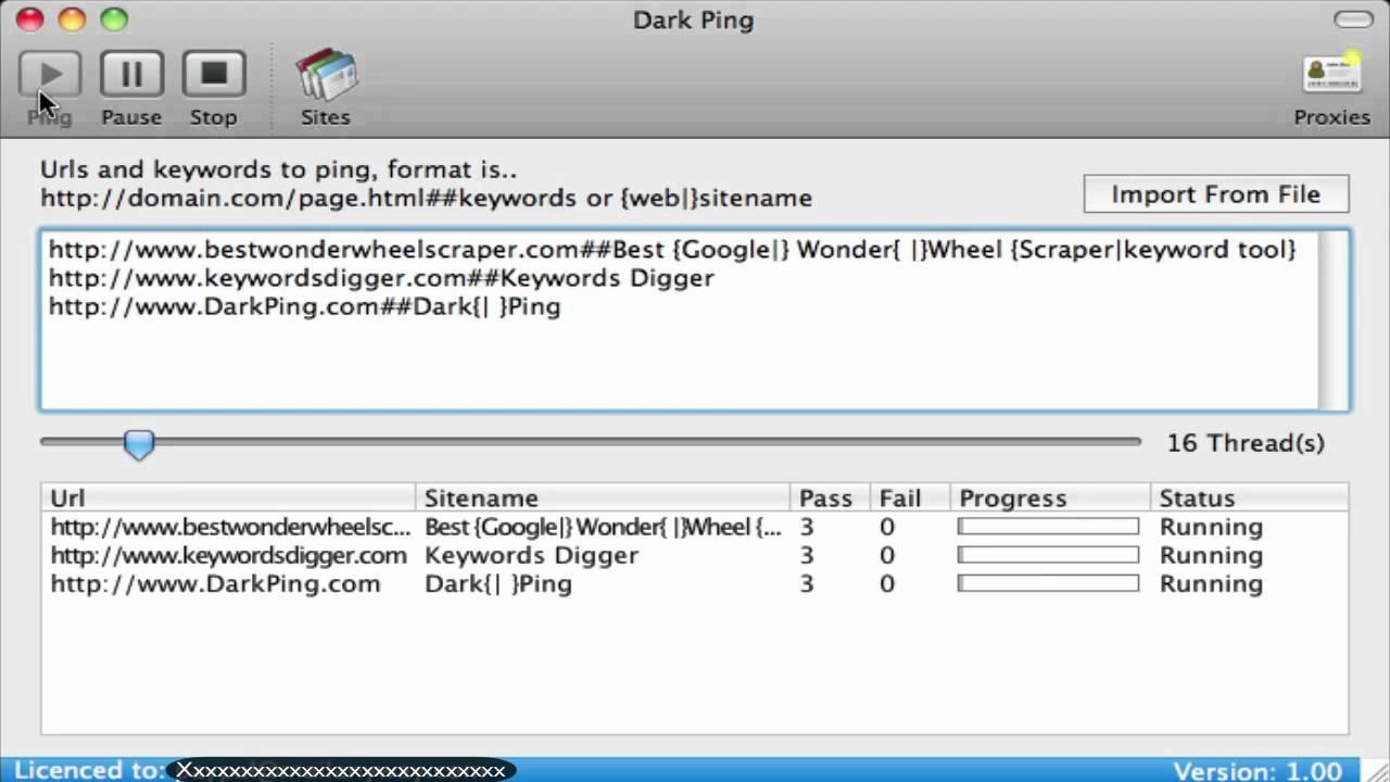 Dark Ping - Mass Url Pinger - YouTube